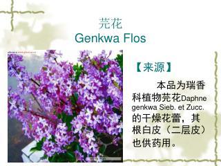 芫花 Genkwa Flos