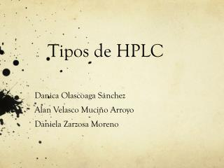 Tipos de HPLC