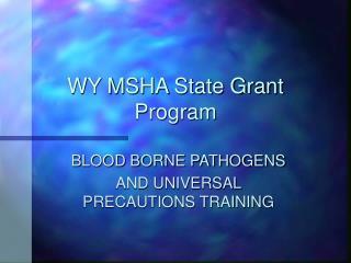 WY MSHA State Grant Program