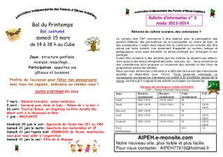 Bulletin d'information n°  2 Année 2013-2014