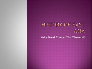 History of East Asia