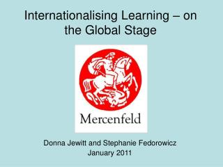 Internationalising Learning – on the Global Stage