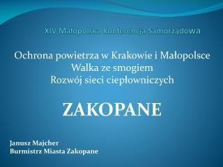 XIV Małopolska Konferencja Samorządo wa