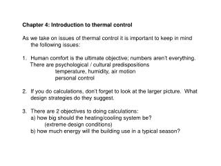 Chapter 4: Introduction to thermal control