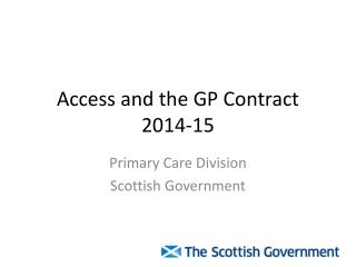 Access and the GP Contract 2014-15