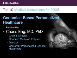 Genomics-Based Personalized Healthcare