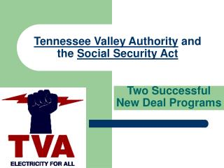 Tennessee Valley Authority  and the  Social Security Act