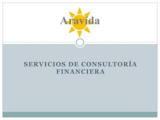 SERVICIOS DE CONSULTORÍA FINANCIERA