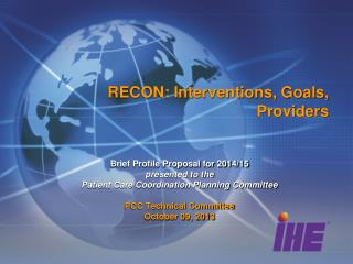RECON: Interventions, Goals, Providers
