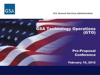 GSA Technology Operations GTO