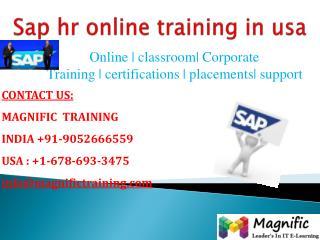 Sap hr online training in usa