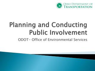 Planning and Conducting Public Involvement