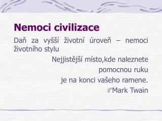 Nemoci civilizace