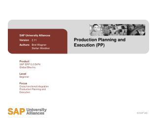 Production Planning and Execution (PP)