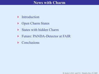 News with Charm