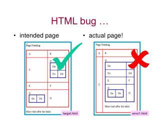 HTML bug …