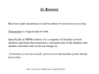 �1. Recovery