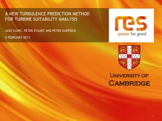 A NEW TURBULENCE PREDICTION METHOD FOR TURBINE SUITABILITY ANALYSIS