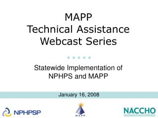 MAPP  Technical Assistance  Webcast Series
