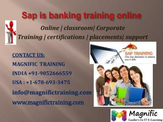 SAP BANKING ONLINE TRAINING IN AUSTRALIA