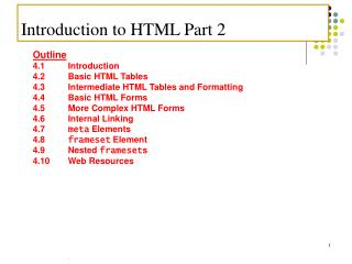 Introduction to HTML Part 2