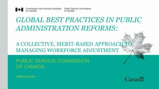 Public Service Commission  OF CANADA RDIMS #1073264