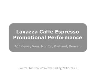 Lavazza Caffe  Espresso Promotional Performance