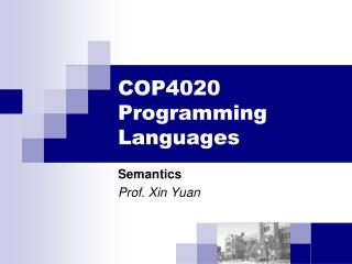 COP4020 Programming Languages