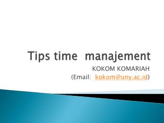 Tips time   manajement