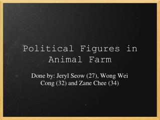Political Figures in Animal Farm