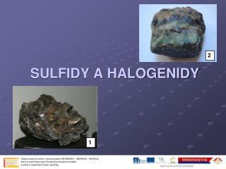 SULFIDY A HALOGENIDY
