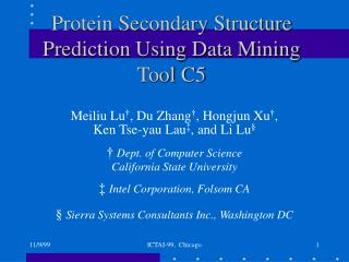 Protein Secondary Structure Prediction Using Data Mining Tool C5