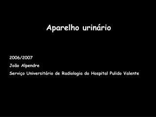 Aparelho urinário 2006/2007 João Alpendre