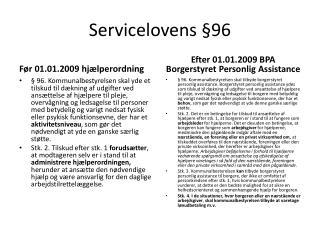 Servicelovens §96