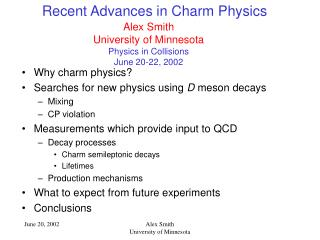 Recent Advances in Charm Physics