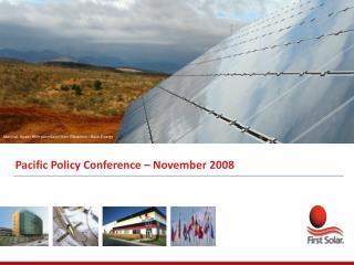 Pacific Policy Conference  –  November 2008