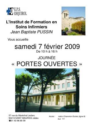 L'Institut de Formation en Soins Infirmiers Jean Baptiste PUSSIN