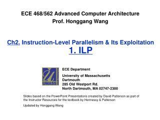 Ch2. Instruction-Level Parallelism & Its Exploitation  1. ILP