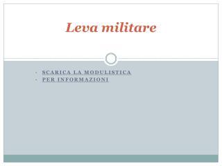 Leva militare
