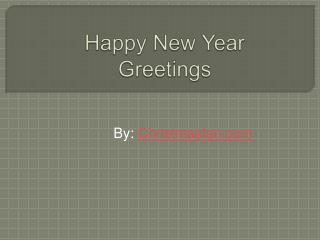 Send happy new year greetings 2015