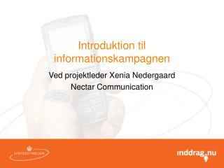 Introduktion til informationskampagnen