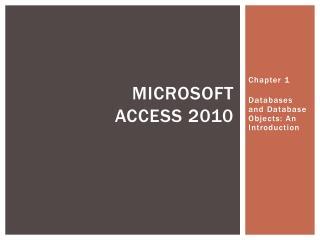 Microsoft Access 2010