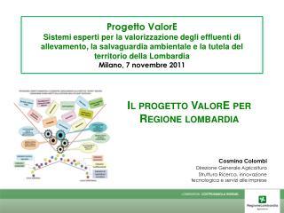 Il progetto  ValorE  per Regione  lombardia
