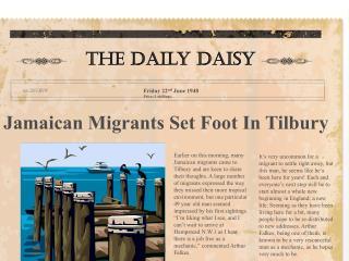 Jamaican Migrants Set Foot In Tilbury