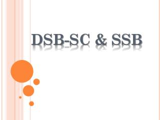 DSB-SC & SSB