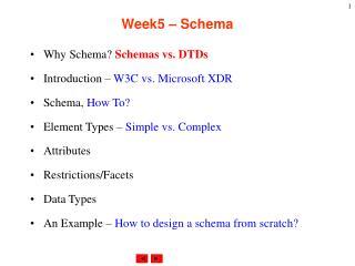 Week5 � Schema
