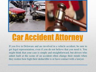 Top Delaware Car Accident Attorney