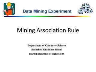 Mining Association Rule
