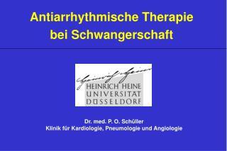 Antiarrhythmische Therapie bei Schwangerschaft