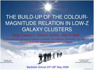 THE BUILD-UP OF THE COLOUR-MAGNITUDE RELATION IN LOW-Z GALAXY CLUSTERS